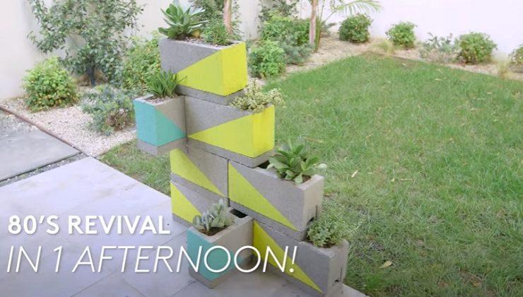 DIY '80s Geometric Planters