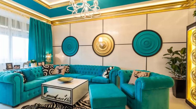 Turquoise in a Modern Interior 2017