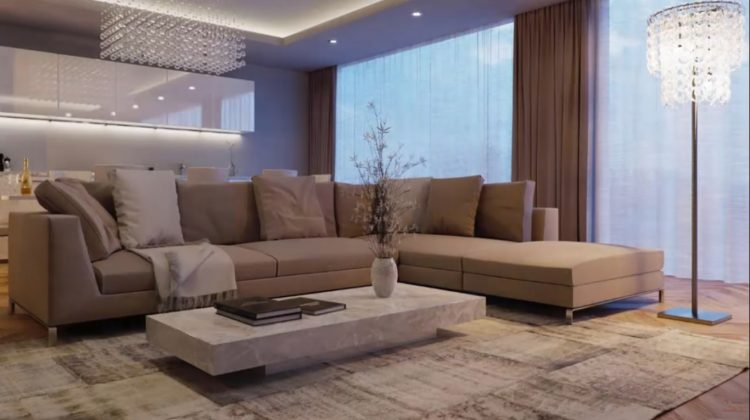 Modern Living Room | Natural Colors in the Interior Living