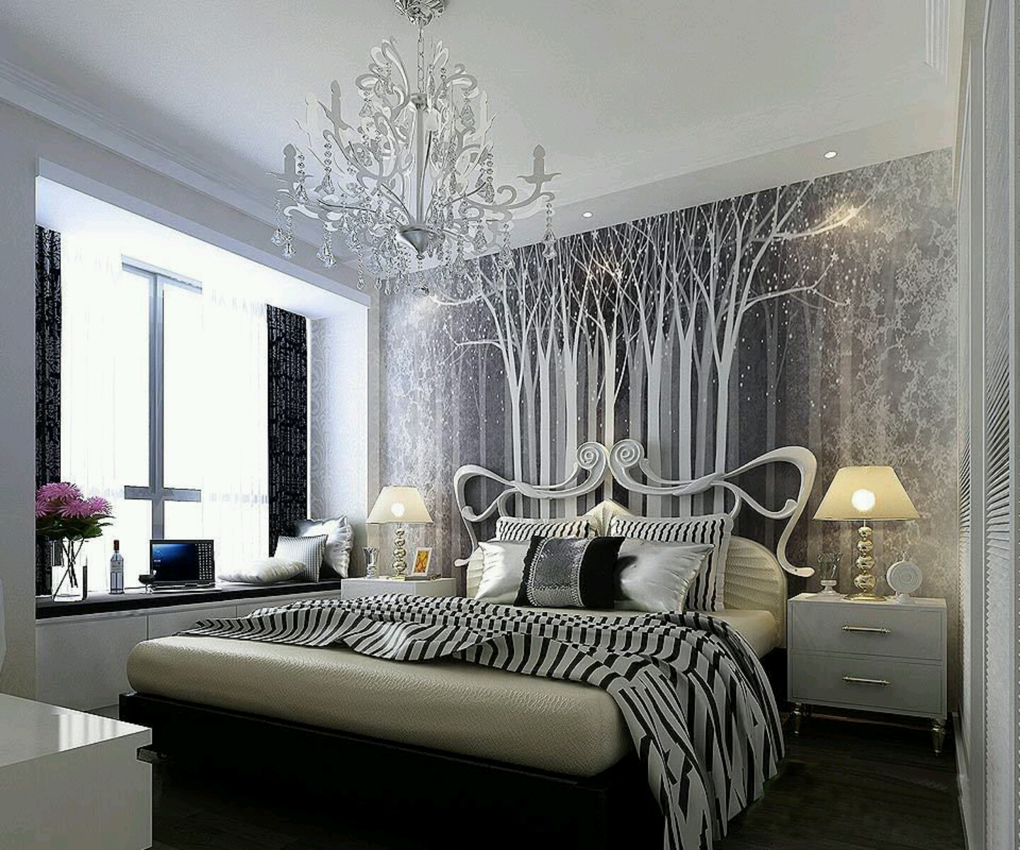 Beautiful Bedroom Decor Contemporary Bedroom Intended Beautiful